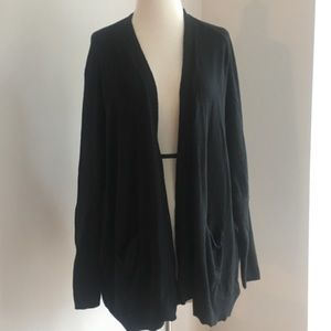 Anthropologie moth black open front cardigan XS/S